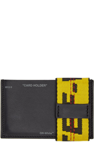 Off-White - Black Leather Card Holder