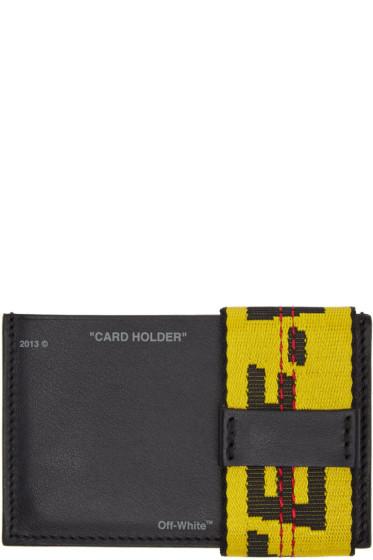 Off-White - Black Leather Card Holder
