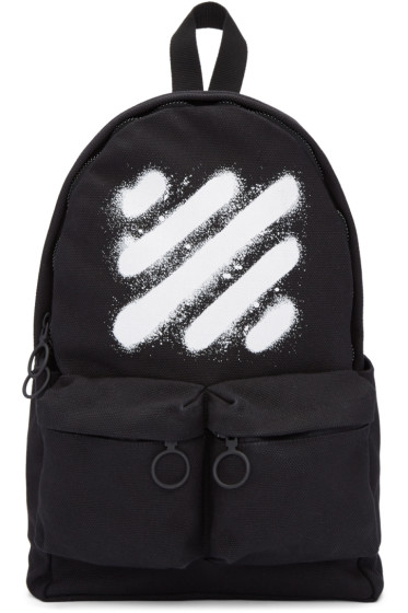 Off-White - Black Diagonal Spray Backpack
