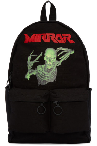 Off-White - Black Skull Mirror Backpack