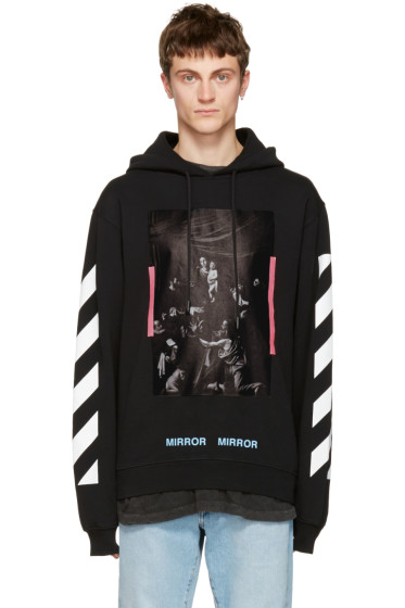 Off-White - Black Diagonal Caravaggio Hoodie
