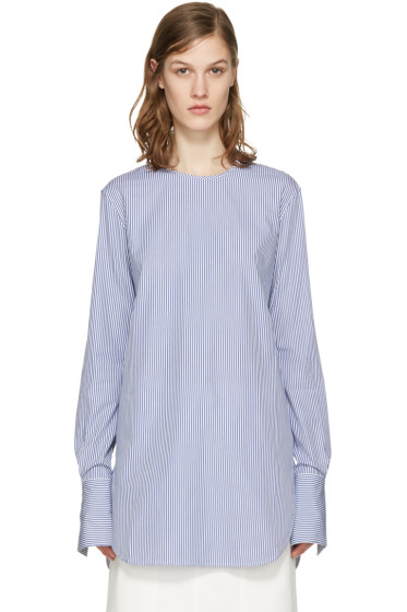Studio Nicholson - Blue Striped Dante Blouse