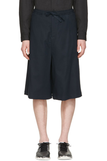 Undecorated Man - Navy Drawstring Shorts