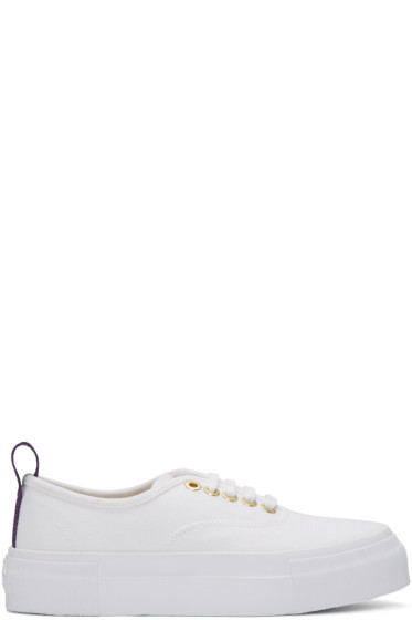 Eytys - White Canvas Mother Sneakers