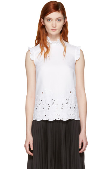 Erdem - White Mika Shell Top