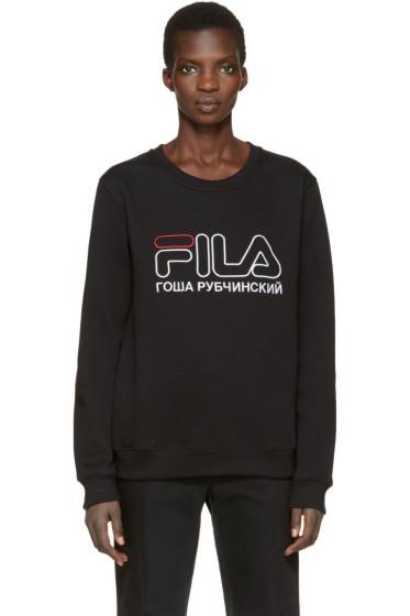 Gosha Rubchinskiy - Black Fila Edition Pullover