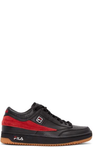 Gosha Rubchinskiy - Black & Red Fila Edition T-1 Mid-Top Sneakers