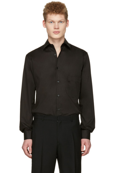 Lemaire - Black Straight Collared Shirt