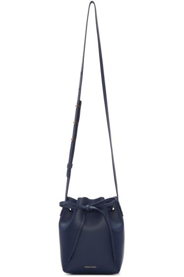 Mansur Gavriel - Navy Leather Mini Mini Bucket Bag