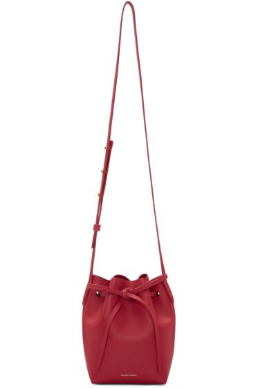 Mansur Gavriel - Red Leather Mini Mini Bucket Bag
