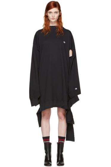 Vetements - Black Champion Edition In Progress Dress