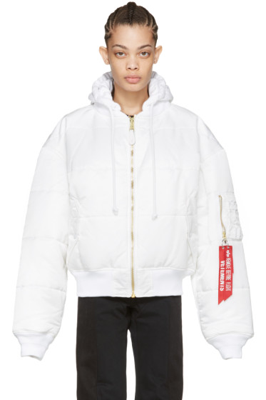 Vetements - Reversible White Alpha Industries Edition Bomber Jacket