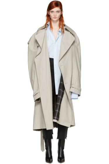 Vetements - Grey Mackintosh Edition Oversized Trench Coat