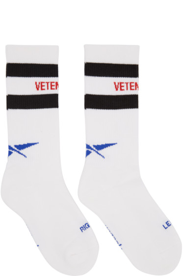 Vetements - White Reebok Edition Classic Socks