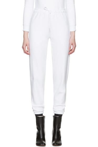 Vetements - White Champion Edition Knee Shape Lounge Pants