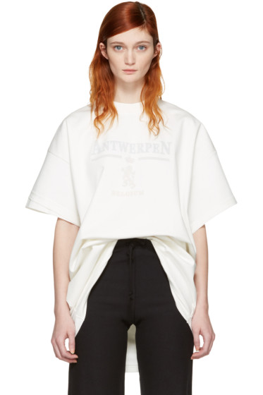 Vetements - White Hanes Edition Oversized Double Antwerpen T-Shirt