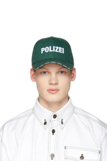 Vetements - Green 'Polizei' Cap