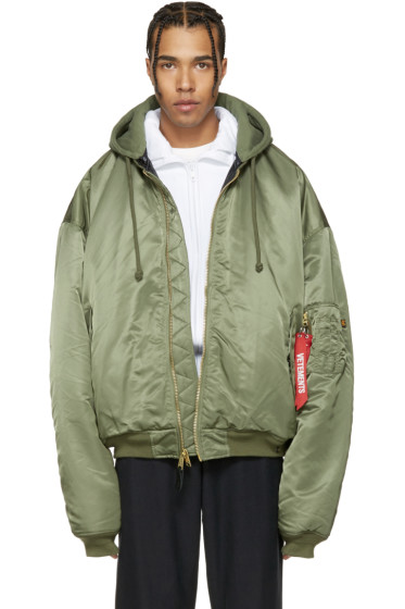 Vetements - Reversible Green Alpha Industries Edition Bomber Jacket