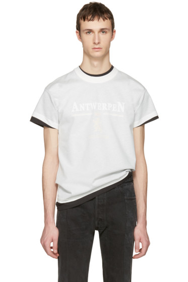 Vetements - White Hanes Edition Fitted Double Antwerpen T-Shirt