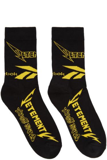 Vetements - Black Reebok Edition Metal Socks