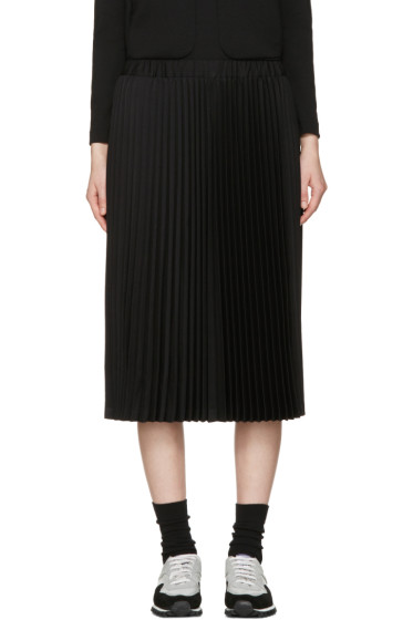 Comme des Garçons Girl - Black Wool Pleated Skirt