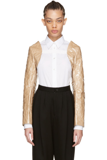Comme des Garçons Comme des Garçons - Beige PVC & Paper Bolero Jacket Sleeves