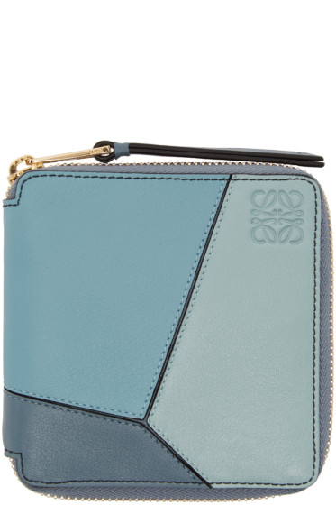 Loewe - Blue Small Puzzle Wallet