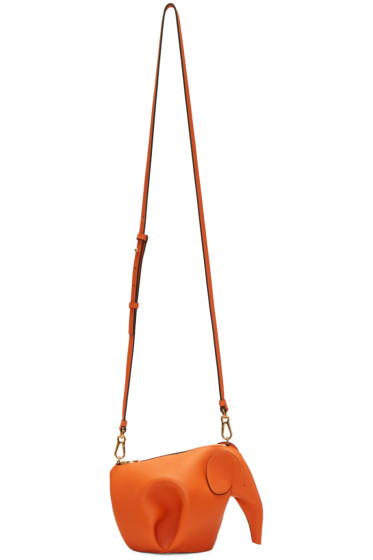 Loewe - Orange Mini Elephant Bag