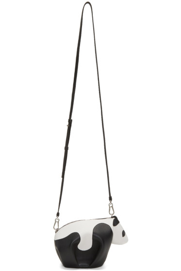 Loewe - Black & White Mini Panda Bag