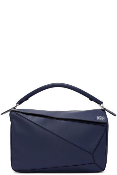 Loewe - Navy Large Puzzle Bag
