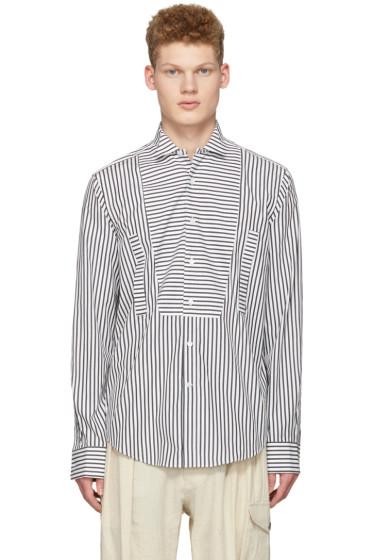 Loewe - Black & White Striped Bib Shirt