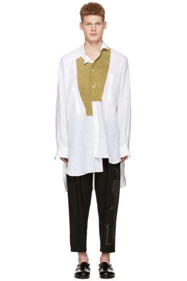 Loewe - White Asymmetric Bib Shirt