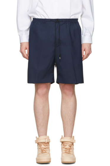 Toga Virilis - Navy Wool Shorts
