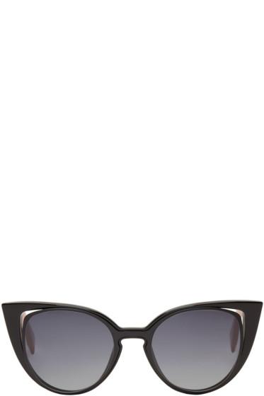 Fendi - Black Cut-Out Cat-Eye Sunglasses