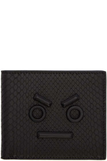 Fendi - Black Python 'Fendi Faces' Wallet