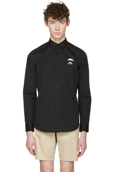 Fendi - Black Karlito Pocket Shirt