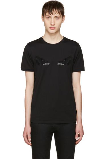 Fendi - Black Sequin 'Bag Bug' T-Shirt
