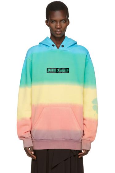 Palm Angels - Multicolor Rainbow Tie-Dye Hoodie