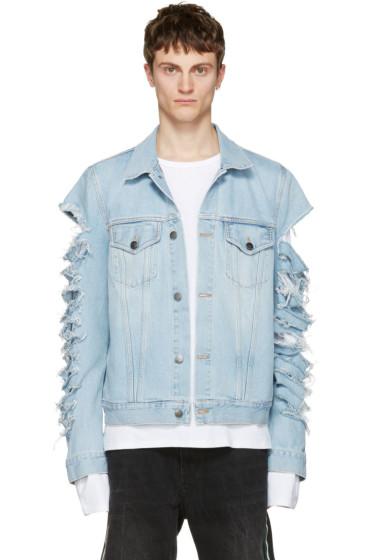 Palm Angels - Blue Ripped Denim Jacket