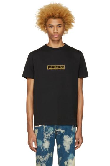 Palm Angels - Black Glitter Logo T-Shirt