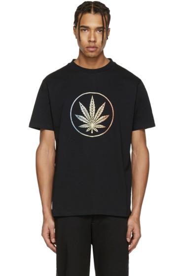 Palm Angels - Black Rainbow Weed T-Shirt