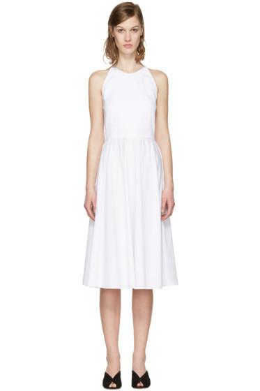 Rosetta Getty - White Poplin Halter Dress