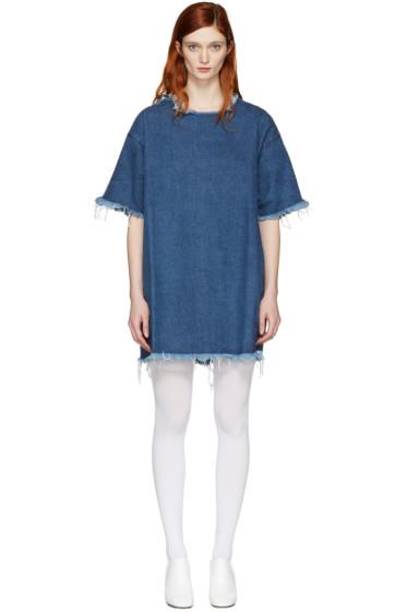 Marques Almeida - Blue Denim T-Shirt Dress