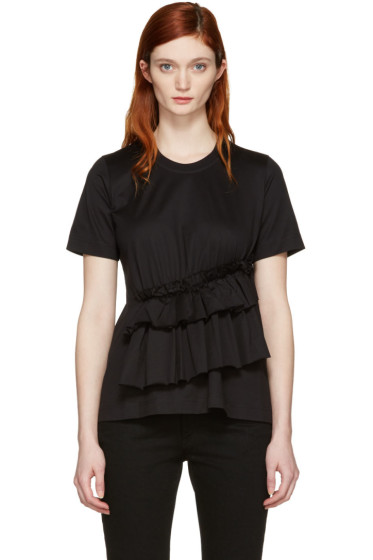 Marques Almeida - Black Gathered T-Shirt