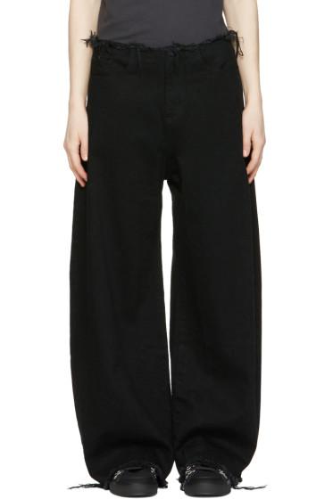 Marques Almeida - Black Oversized Jeans