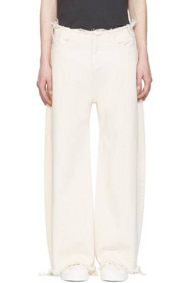 Marques Almeida - Off-White Oversized Jeans