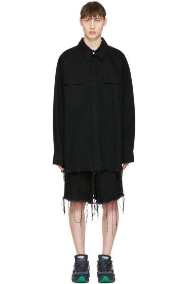 Marques Almeida - Black Denim Oversized Shirt