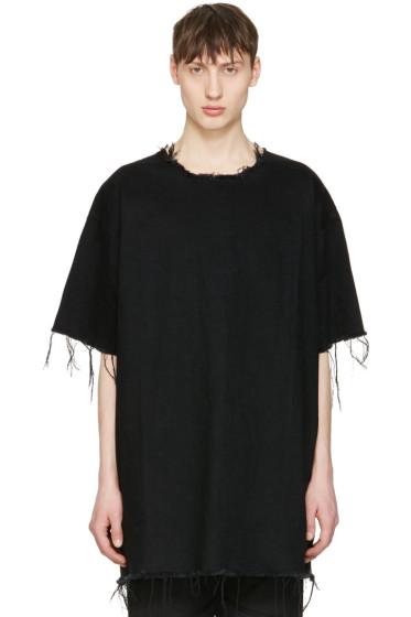 Marques Almeida - Black Denim T-Shirt