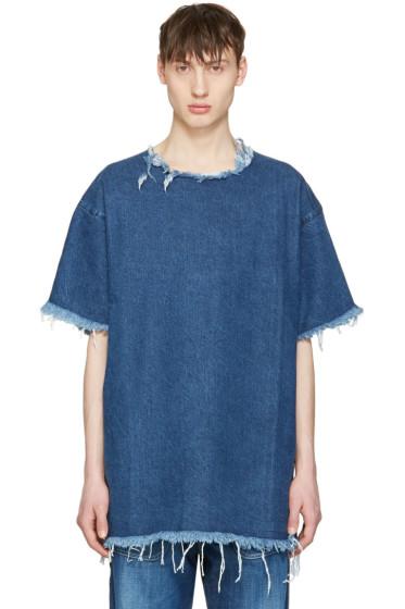 Marques Almeida - Blue Denim T-Shirt