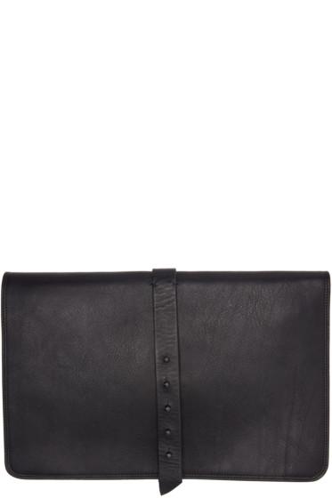 Isabel Benenato - Black Leather Document Holder